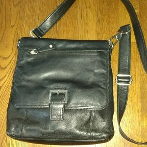 Audrey Brooke leather crossbody